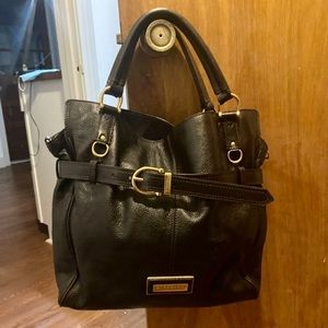 Burberry Convertible Leather Belted Shoulder Bag
